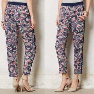 Anthropologie Elevenses floral trousers size 6